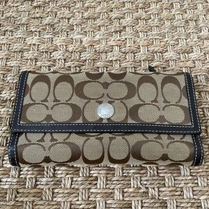 Coach wallet with checkbook cover